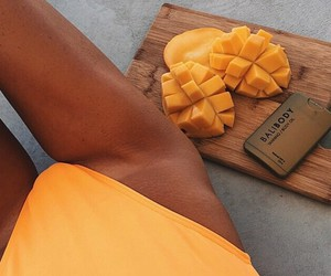 summer, body, and fruit image