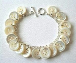 bracelet, button, and diy image