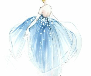 cinderella, disney, and drawing image