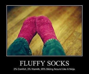 funny ninja socks pink image