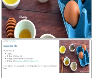 beauty, diy, and egg image