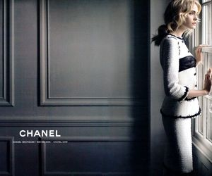 chanel, model, and black image