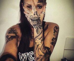 gangsta, girl, and tattoo image