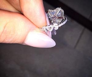 ring, diamond, and Lady gaga image
