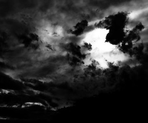 clouds, black, and dark image