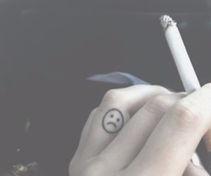 cigarette, tattoo, and grunge image