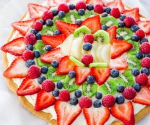 fruit, banana, and blueberry image