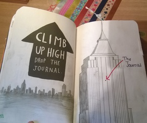 black and white, empire state, and wreck this journal image
