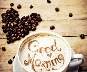 good morning and coffee image
