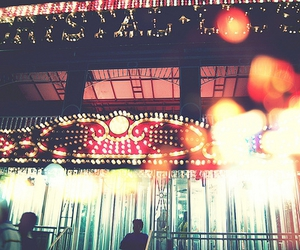 bokeh, carnival, and funhouse image