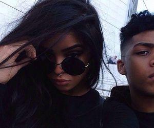 girl, boy, and black image