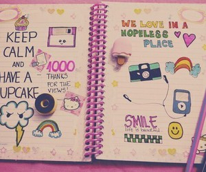 pink, hello kitty, and smile image