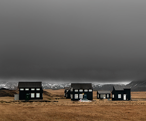 clouds, iceland, and house image