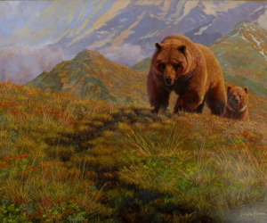 alaska, grizzly bear, and art image