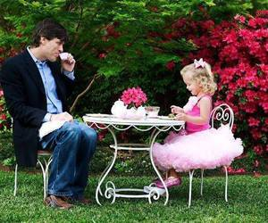 tea party, child, and family image