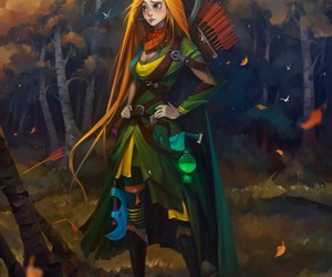 art, drawing, and windrunner image