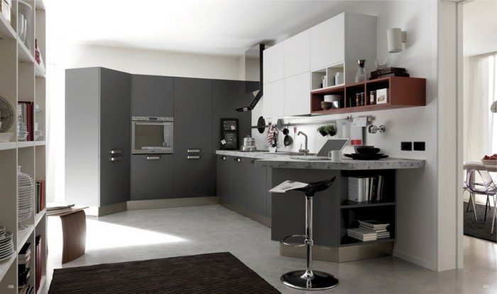 Remarkable White And Black Kitchens Color Scheme Design Ideas For Small Black And White Kitchens White And Black Kitchen Curtains Black And White Style Kitchens White Kitchens Photo Gallery Alluring White And
