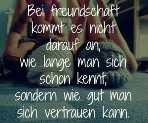 freundschaft, friends, and vertrauen image