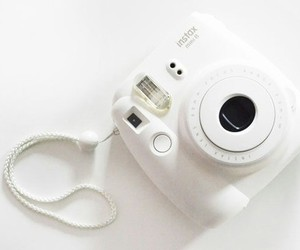 white, camera, and polaroid image