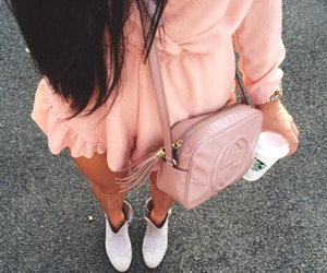 bag, dress, and jumpsuit image