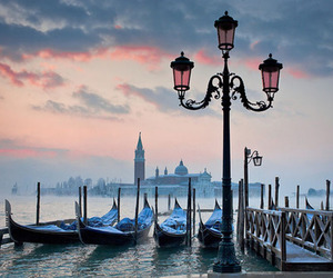 venice, gondola, and italy image