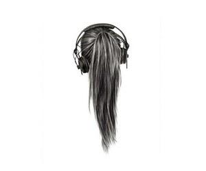 music, hair, and girl image