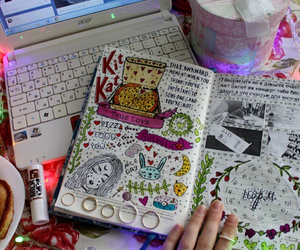 book, drawing, and cute image