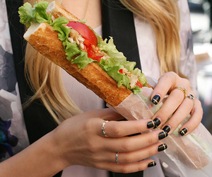 food, nails, and sandwich image