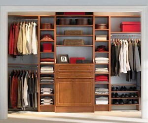 simple closet design, simple closets, and simple home organization image