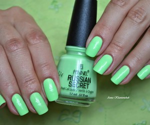 nail art, nail polish, and russian secret fennel image
