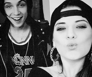 andy biersack, juliet simms, and black veil brides image
