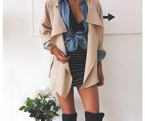 denim, outfit, and striped image