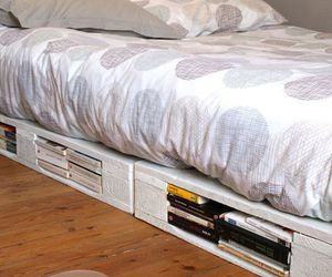 bed, diy, and library image
