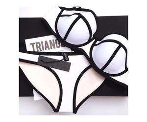bikini, triangl, and fashion image
