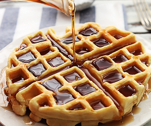 pancakes, syrup, and waffles image