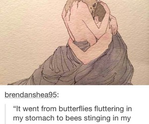 bees, butterflies, and heart image