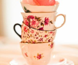 vintage, pink, and tea image