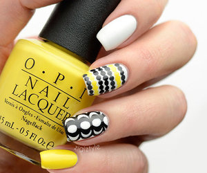 nails, nail art, and yellow image