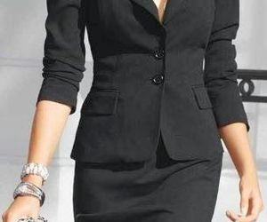 black, outfit, and woman image