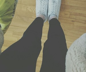 shoese and nike black legs force image