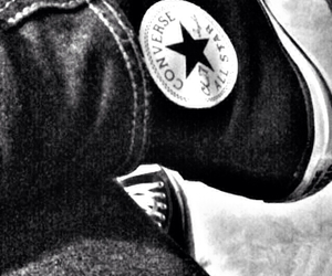 all star, black and white, and converse image