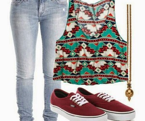 outfit, vans, and jeans image