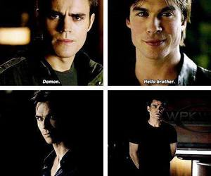 the vampire diaries, brothers, and stefan salvatore image