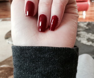hand, nails, and red image