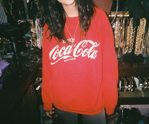 girl, coca cola, and grunge image