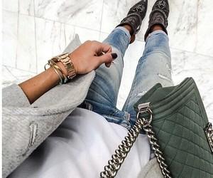 girl, woman, and bag image