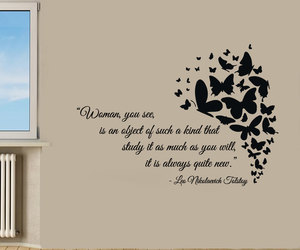 home design, love quotes, and butterfly art image