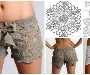 lace crochet shorts image