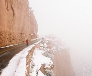 nike, run, and snow image