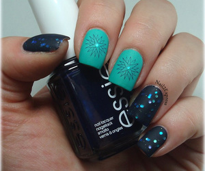 manicure, nails, and stamping image
